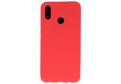 Color TPU Hoesje voor Huawei P30 Lite Rood