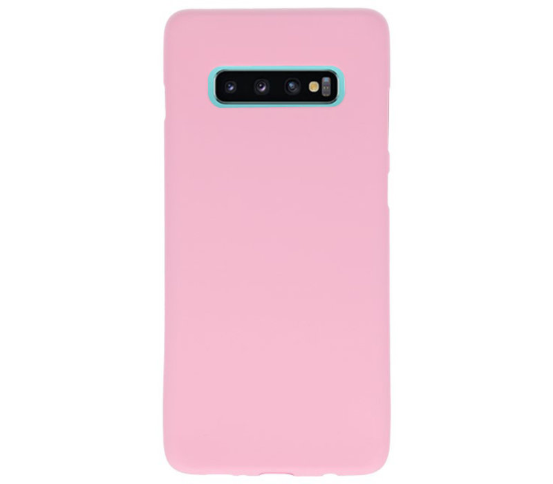 Color TPU Hoesje voor Samsung Galaxy S10 Plus Roze
