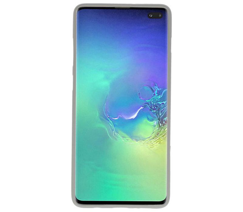 Color TPU Hoesje voor Samsung Galaxy S10 Plus Grijs