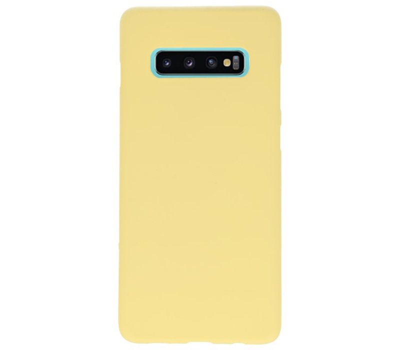 Color TPU Hoesje voor Samsung Galaxy S10 Plus Geel