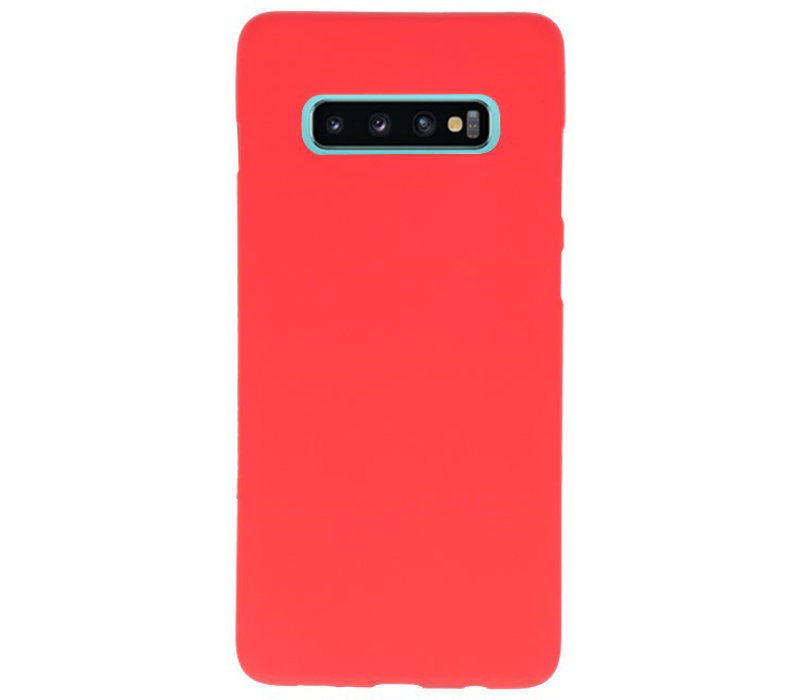 Color TPU Hoesje voor Samsung Galaxy S10 Plus Rood