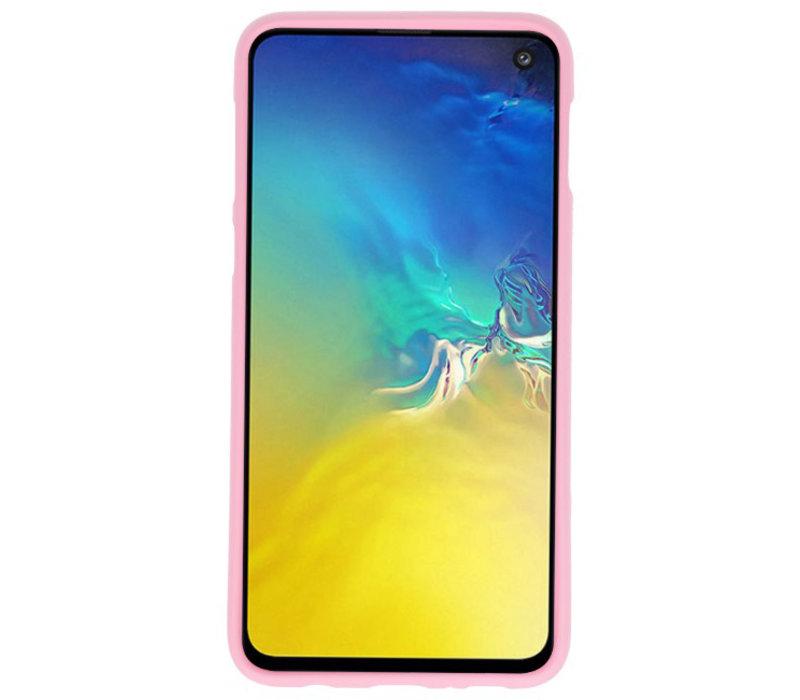 Color TPU Hoesje voor Samsung Galaxy S10e Roze