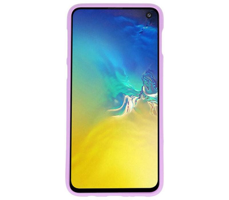 Color TPU Hoesje voor Samsung Galaxy S10e Paars