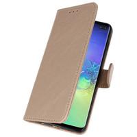 Bookstyle Wallet Cases Hoesje voor Samsung S10 Plus Goud