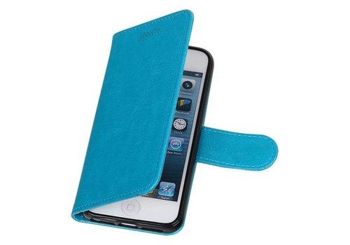 iPhone 5 Portemonnee hoesje booktype wallet case Turquoise