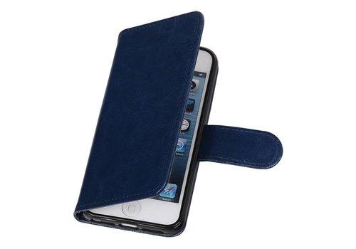 iPhone 5 Portemonnee hoesje booktype wallet case DonkerBlauw
