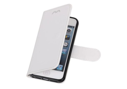 iPhone 5 Portemonnee hoesje booktype wallet case Wit