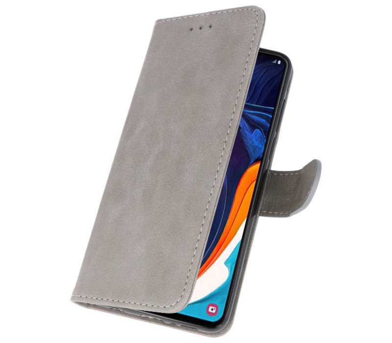 Bookstyle Wallet Cases Hoesje voor Samsung Galaxy A60 Grijs