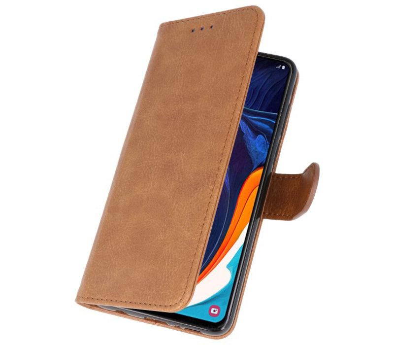 Bookstyle Wallet Cases Hoesje voor Samsung Galaxy A60 Bruin