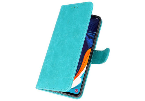 Bookstyle Wallet Cases Hoesje voor Samsung Galaxy A60 Groen