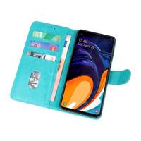 Bookstyle Wallet Cases Hoesje voor Samsung Galaxy A60 Groen