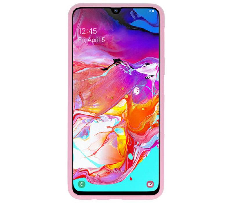 Color TPU Hoesje voor Samsung Galaxy A70 Roze