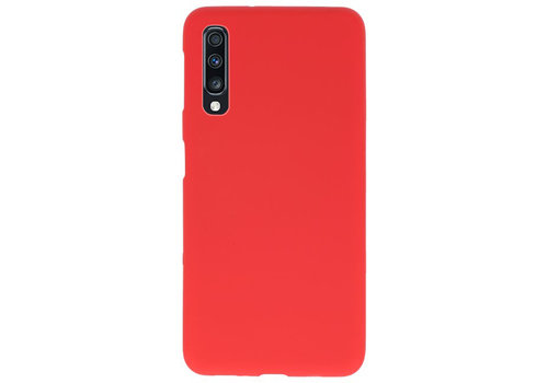 Color TPU Hoesje voor Samsung Galaxy A70 Rood