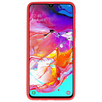 Color TPU Hoesje voor Samsung Galaxy A70 Rood