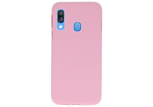 Color TPU Hoesje voor Samsung Galaxy A40 Roze