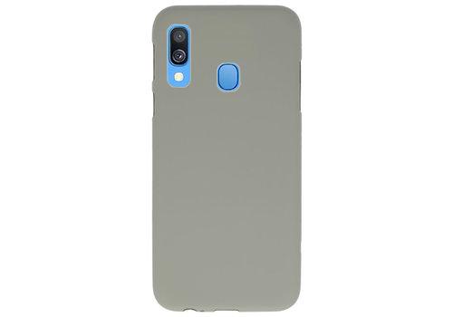 Color TPU Hoesje voor Samsung Galaxy A40 Grijs