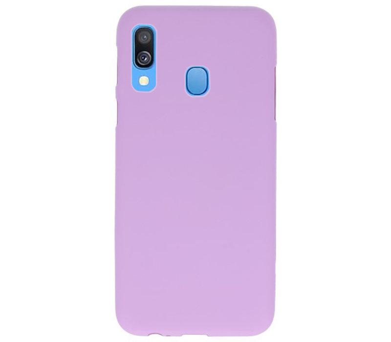 Color TPU Hoesje voor Samsung Galaxy A40 Paars