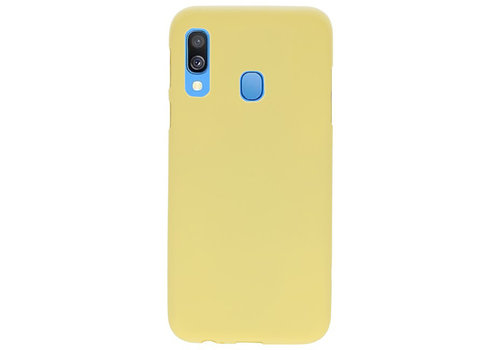 Color TPU Hoesje voor Samsung Galaxy A40 Geel
