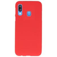 Color TPU Hoesje voor Samsung Galaxy A40 Rood