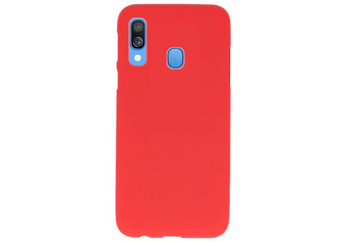 Color TPU Hoesje voor Samsung Galaxy A40 Rood