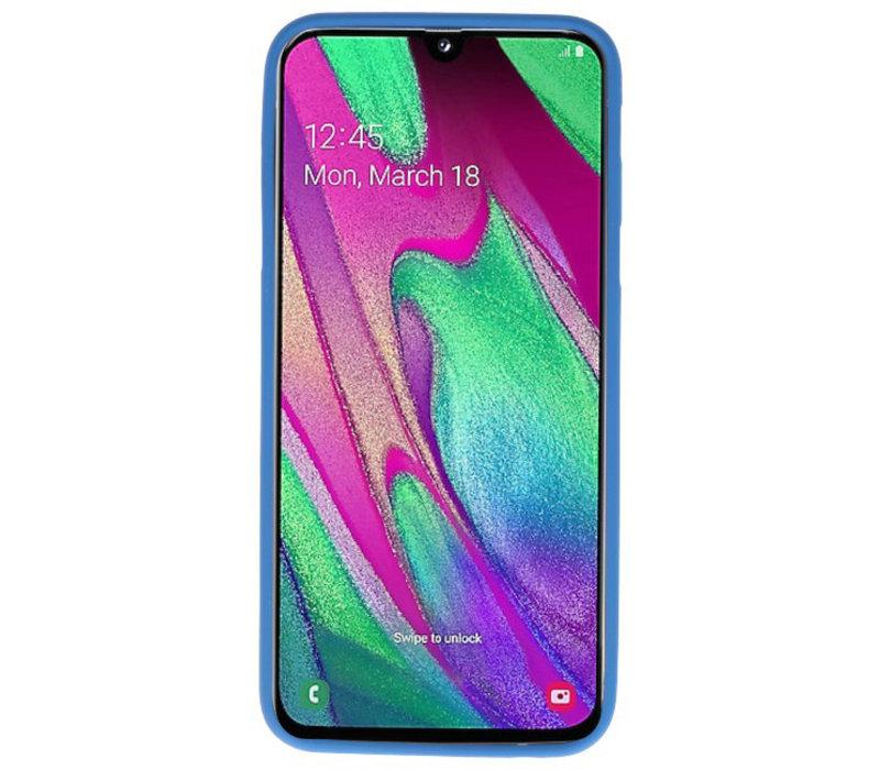 Color TPU Hoesje voor Samsung Galaxy A40 Navy
