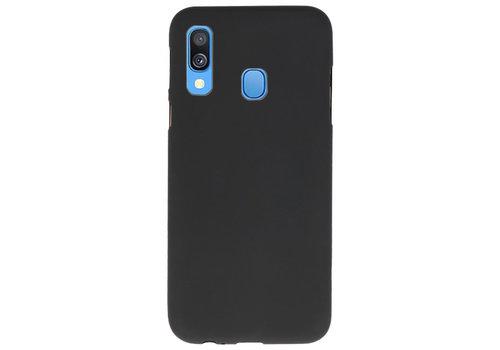Color TPU Hoesje voor Samsung Galaxy A40 Zwart