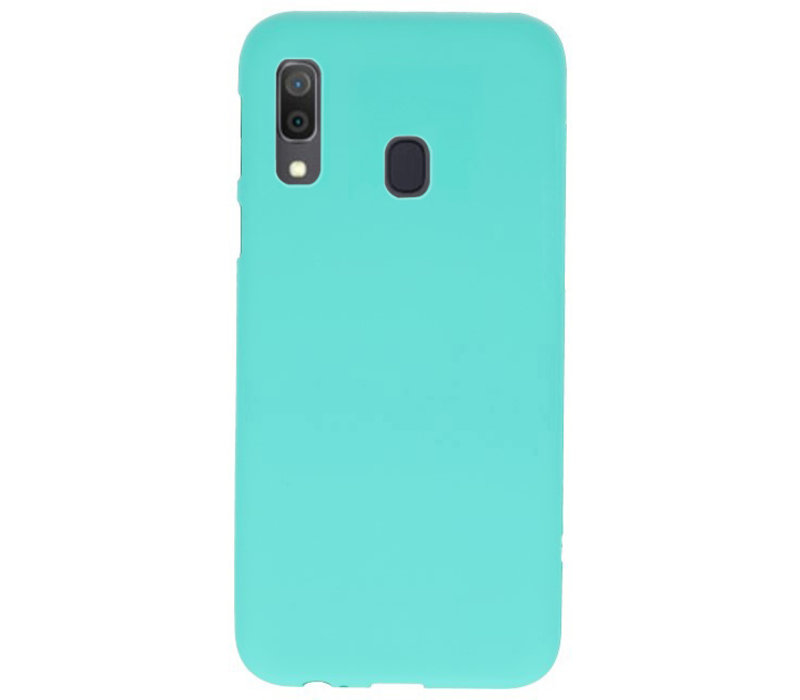 Color TPU Hoesje voor Samsung Galaxy A30 Turquoise