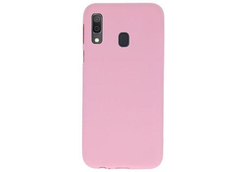 Color TPU Hoesje voor Samsung Galaxy A30 Roze