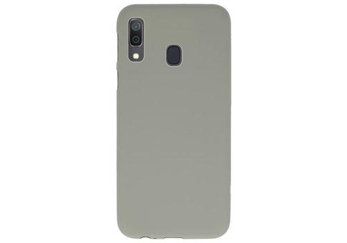 Color TPU Hoesje voor Samsung Galaxy A30 Grijs
