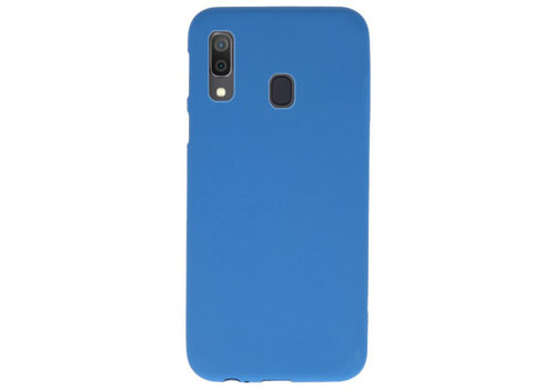 Color TPU Hoesje voor Samsung Galaxy A30 Navy