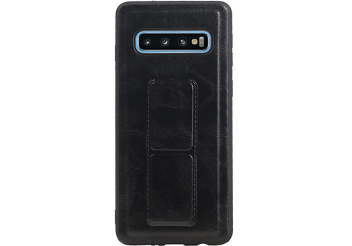 Grip Stand Hardcase Backcover voor Samsung Galaxy S10 Blauw