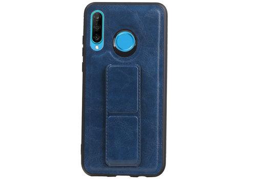Grip Stand Hardcase Backcover voor Huawei P20 Lite Blauw