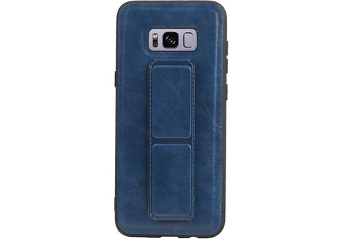 Grip Stand Hardcase Backcover voor Galaxy S8 Plus Blauw