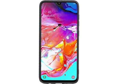 Grip Stand Hardcase Backcover voor Galaxy A70 Blauw