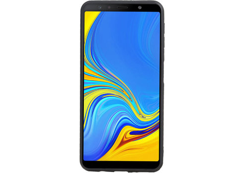 Grip Stand Hardcase Backcover voor Galaxy A7 (2018) Blauw