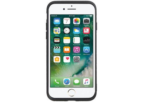Grip Stand Hardcase Backcover voor iPhone 8 / 7 Zwart