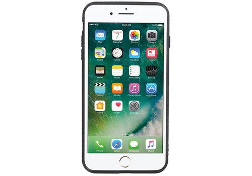 Grip Stand Hardcase Backcover voor iPhone 8 / 7 Plus Zwart