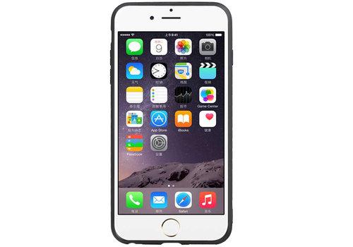 Grip Stand Hardcase Backcover voor iPhone 6 Plus Zwart