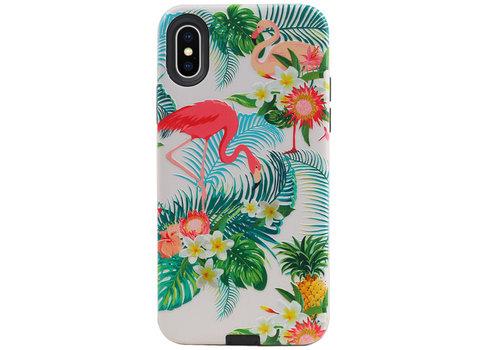 Flamingo Design Hardcase Backcover voor iPhone X / XS