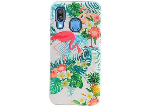 Flamingo Design Hardcase Backcover voor Galaxy A40