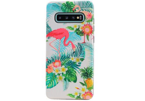 Flamingo Design Hardcase Backcover voor Galaxy S10