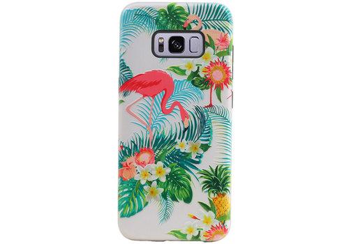 Flamingo Design Hardcase Backcover voor Samsung Galaxy S8