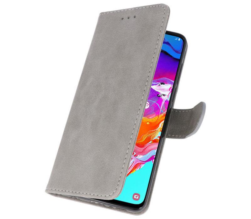 Bookstyle Wallet Cases Hoesje voor Samsung Galaxy A70 Grijs