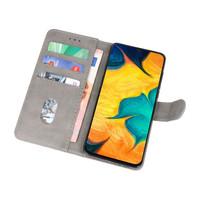 Bookstyle Wallet Cases Hoesje voor Samsung Galaxy A30 Grijs