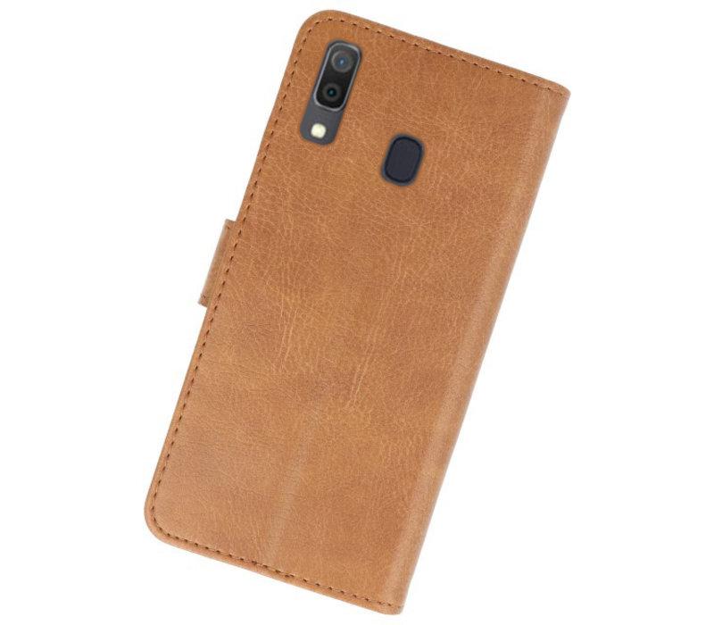 Bookstyle Wallet Cases Hoesje voor Samsung Galaxy A30 Bruin
