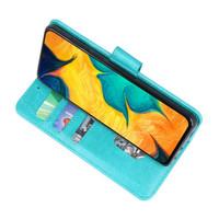 Bookstyle Wallet Cases Hoesje voor Samsung Galaxy A30 Groen