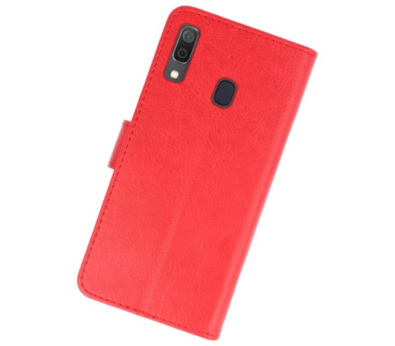 Bookstyle Wallet Cases Hoesje voor Samsung Galaxy A30 Rood