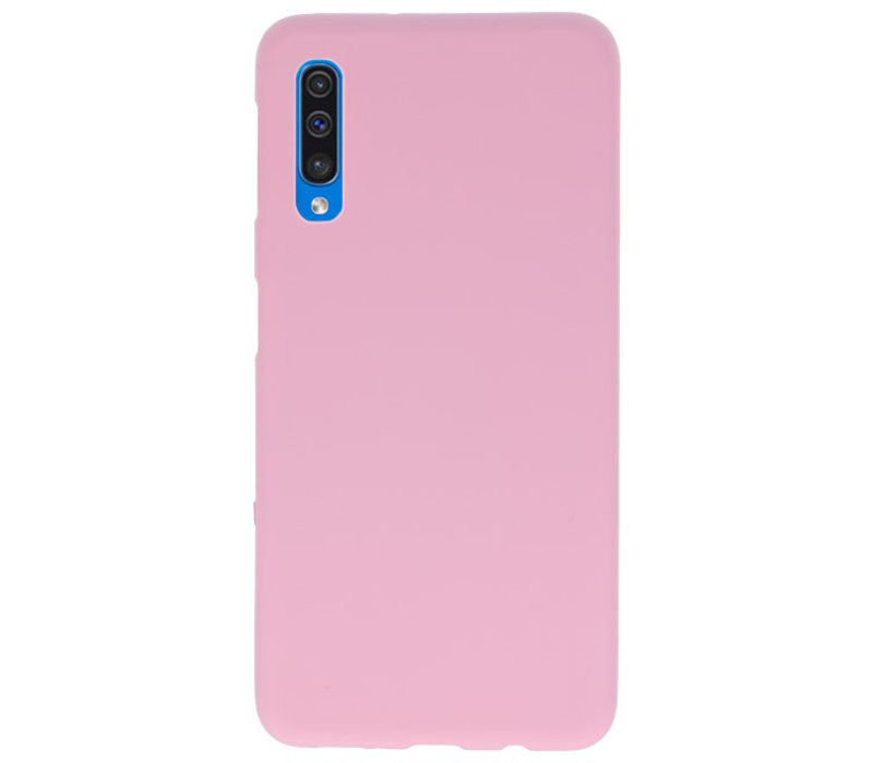 Color TPU Hoesje voor Samsung Galaxy A50 Roze