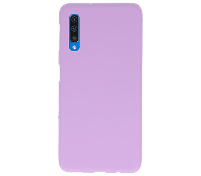 Color TPU Hoesje voor Samsung Galaxy A50 Paars