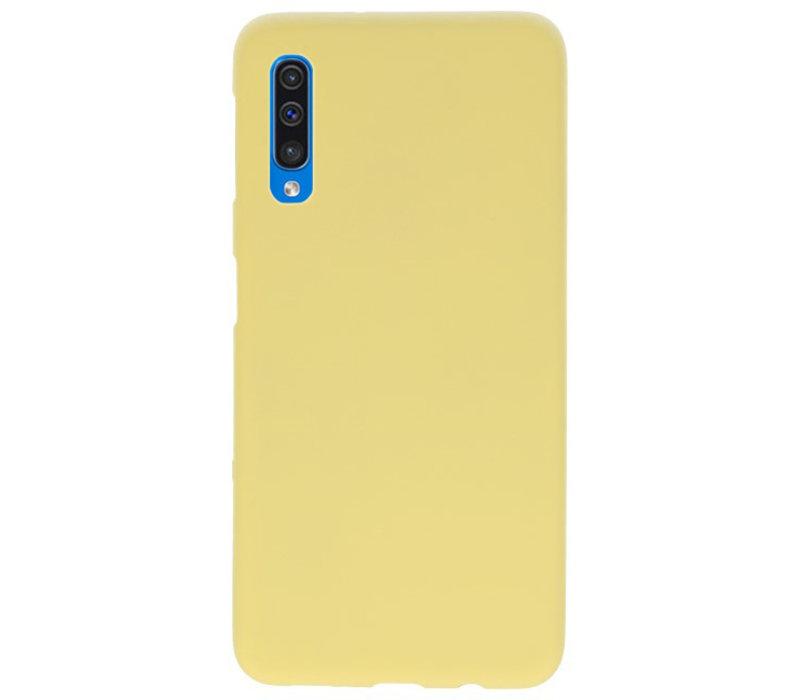 Color TPU Hoesje voor Samsung Galaxy A50 Geel
